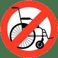 Non accessible aux personnes handicapéess